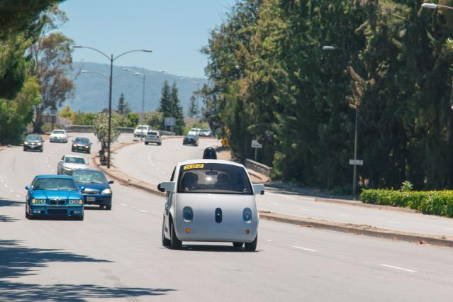 A prototype vehicle cruises through Mountain View (top speed: 25 mph)