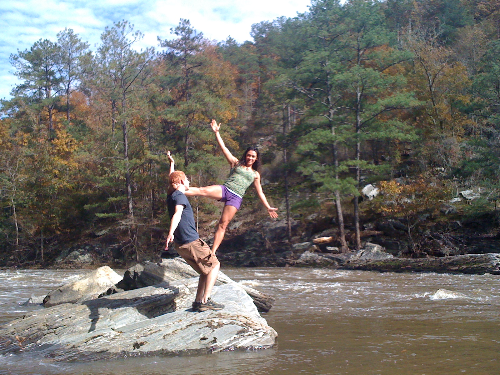 Acroyoga at Sweetwater Creek State Park GA